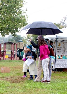 oq hunters with umbrella